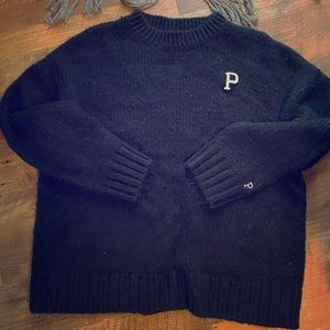 Victoria's Secret pink black sweater